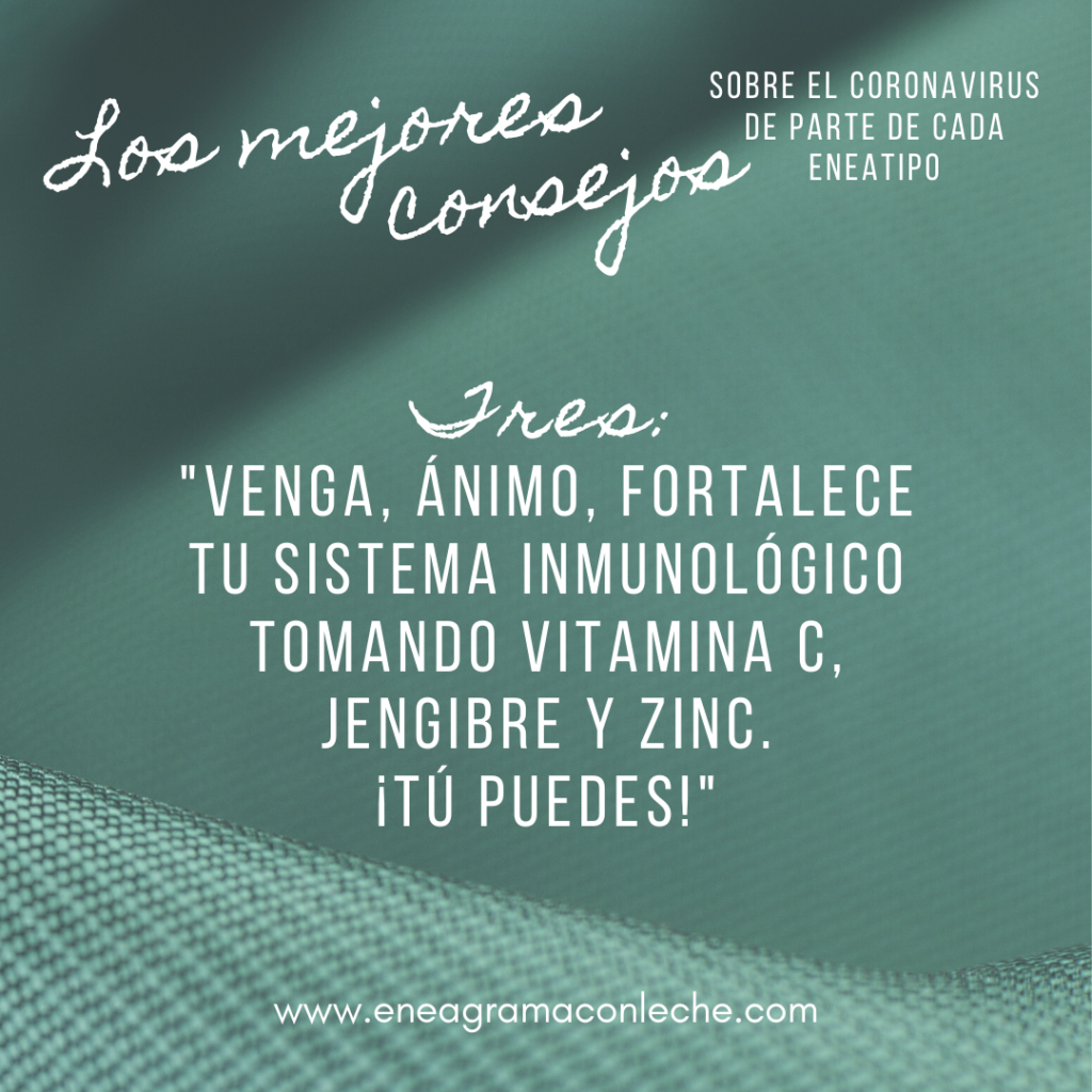 Consejos sobre el Coronavirus y Eneagrama